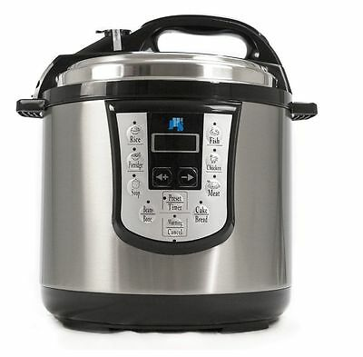 JHS8 11-in-1 Electronic Pressure Cooker Stainless Steel 1000W 6L Non-Stick 240v
