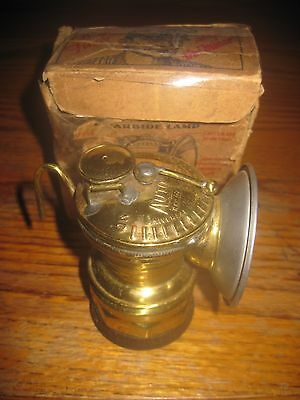 1930s Vintage brand new in the orig. box  carbide miners lamp never was used