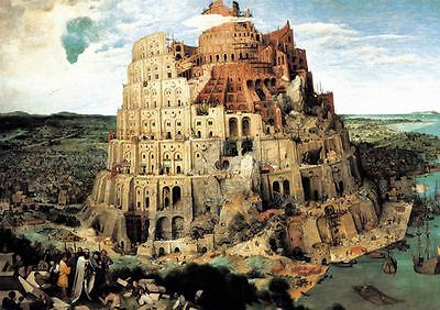1000 Pieces Jigsaw Puzzle - The Tower Of Barbel by Pieter Brueghel