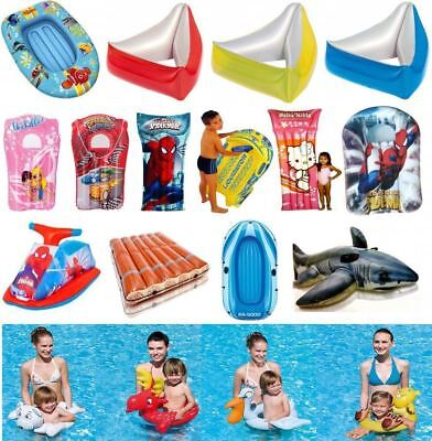 Inflatable Kids Swimming Pool Beach Float Lilo Pool Aid Swim Ring Lounger Toy