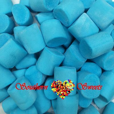 Large Blue Marshmallows 1Kg Candy Lolly Buffet Blue Lollies