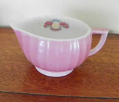 """AMERICAN LIMOGES CHINA CHATEAU Rose Minuet Pattern-CREAMER PITCHER-5.75"""" ACROSS"""