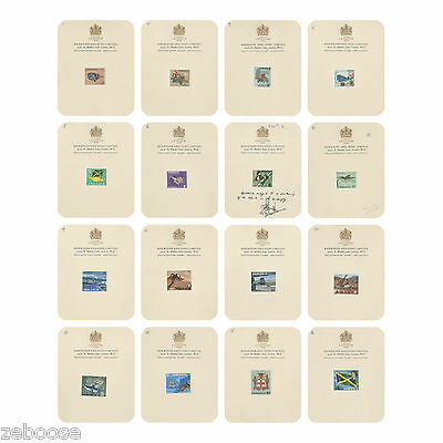 Jamaica 1964 (Proof) Definitive series on Harrison & Sons presentation cards
