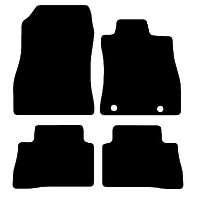 Black Tailored Car Floor Mats For Nissan Juke 2010 >  4 Piece Set 2 Clips