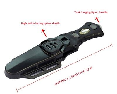 100% Titanium Compact Scuba Dive and Spear Fishing Knife