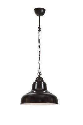 Emac and Lawton Small Black Brasserie Overhead Lighting Home Decor NEW