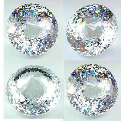 IF 550+ cts Huge Round Closed Cut (40 mm) Lab Clear White Diamond AAA B1