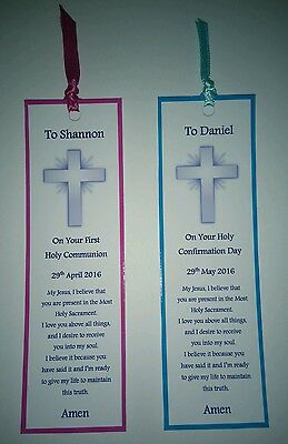 Personalised 1st Holly Communion//Confirmation Heart Keepsake Gift P786//P787 .100