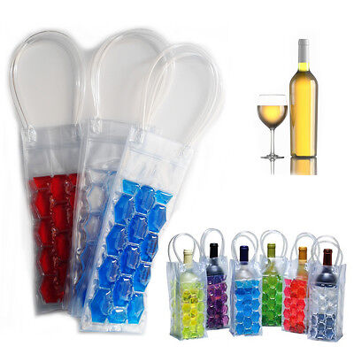 Wine Bottle Gel Chill Cooler Ice Bag Carrier Vine Beer Party Carrier Travel Case