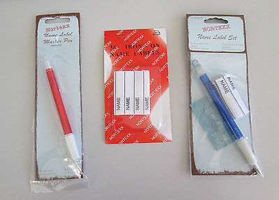 Iron On Name Labels, Name Label Set Or Name Label Pen