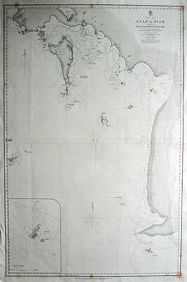 Gulf of Thailand NAUTICAL CHART MARITIME KARTE 1860
