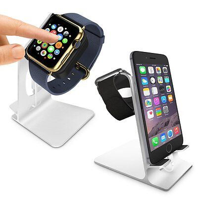 Orzly Apple Watch & iPhone Holder Stand Charging Dock Station - Orzly