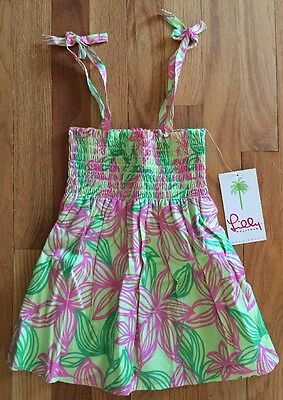 NWT Lilly Pulitzer Girls Risa Top Palm Beach Island Floral 10 Pink Green Shirt