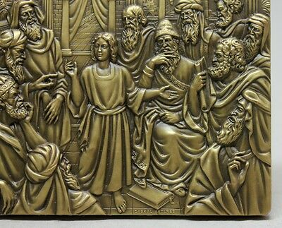 Life of Jesus Christ #6 / CHILD JESUS AMONG THE DOCTORS Bronze Medal by ANTUNES