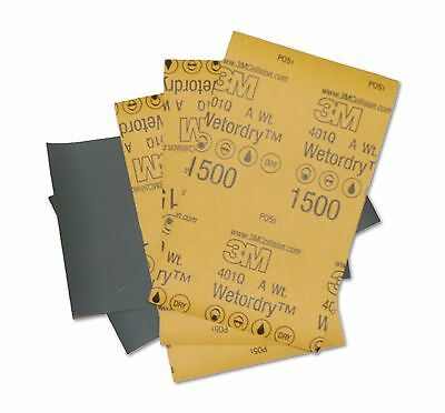5 X Sheets 3M Wet or Dry 1500 2000 Grit Sandpaper / Abrasive 5.5 inch X 9 inch