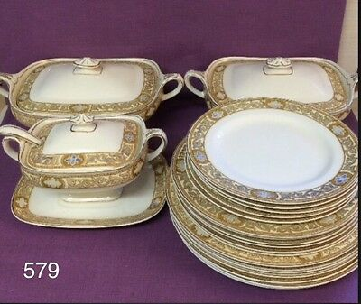 J & G Meakin ACADEMY China Dinner set Tureens, Plates 26 pieces •  579