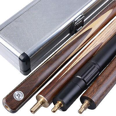 New 3/4 piece Handmade 4A Ash Snooker/Pool Cue set W/ Case Extension #TSC9