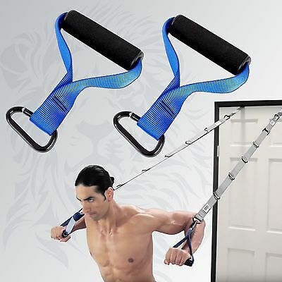 Multi Gym Cable Attachments Handle Grips Human Trainer Suspension Exercise