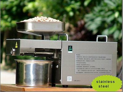 Automatic Oil Press Machine Stainless Steel Cold Hot Nuts Seeds Presser 110V Y