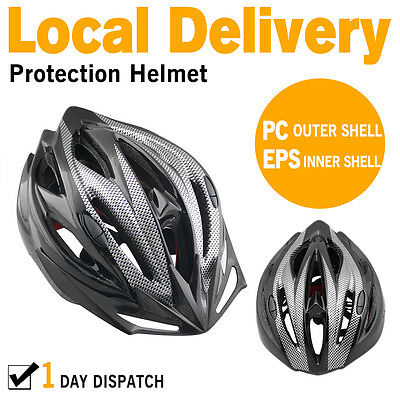Adult Bike Bicycle Cycle Safety Helmet Road & MTB Cycling for Protection Black