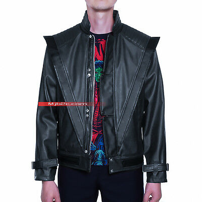 Michael Jackson Costume Thriller Leather Jacket - Black