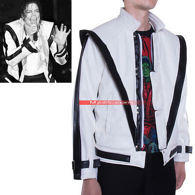 Michael Jackson Costume - Thriller Jacket - Leather Clothing - White