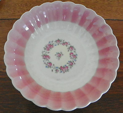 """AMERICAN LIMOGES CHINA CHATEAU Rose Minuet Pattern- 6-DINNER PLATE-9.25"""" ACROSS"""