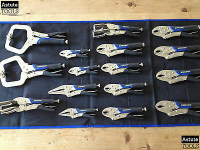 Vice Grip Pliers Set by Bergen Round Nose Locking Pliers Welding Clamps 16 Piece