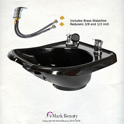 Beauty Salon Shampoo Bowl Sink Wall Mounted ABS Durable Plastic  TLC-B13W-GT