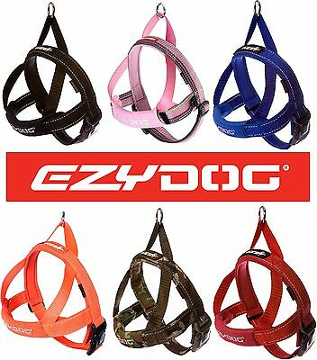 EzyDog Quick Fit Reflective Stitching Dog Harness Strong Adjustable Ezy Dog