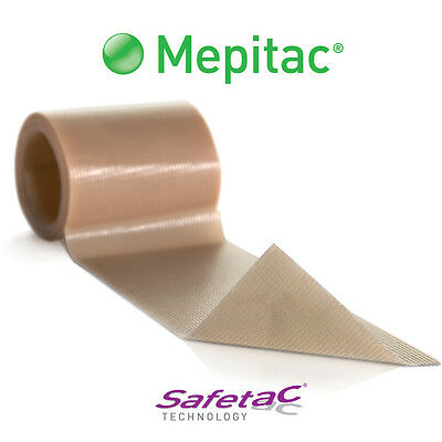"Molnlycke Mepitac Silicone Medical Tape 1 1/2"" X 59 """