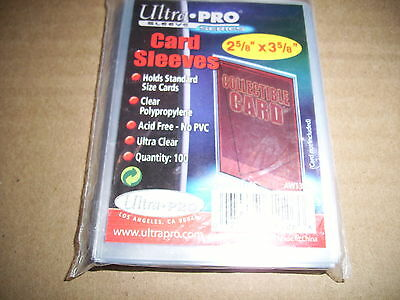 100 Ultra Pro Soft Sleeves 2 5/8 X 3 5/8 Holds Standard Size Cards & Magic Cards