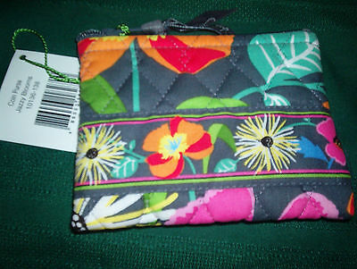 Vera Bradley Zip Coin Purse, Jazzy Blooms, Nwt