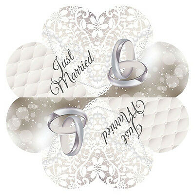 20 Wedding Ring Just Married Heart Shaped Napkins
