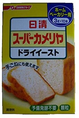 Nisshin Super Camellia dry yeast home bakery 3g x 10 bags Made in Japan