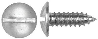 """1/4"""" (#14) x 3/4"""", 9/16"""" Slotted Truss Head License Plate Screws, Bag of 50 E026"""