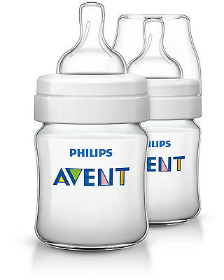 Philips AVENT Baby Classic+ Feeding Bottle TEAT 2x 125ml/4oz BPA FREE SCF560/27