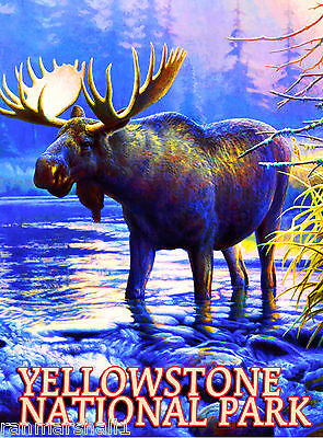 Moose Wyoming Yellowstone Park United States Travel Advertisement Art Poster