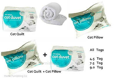 Anti-Allergy Baby Cot Bed Duvet / Quilt Or Pillow, Toddler, Junior, Nursery,