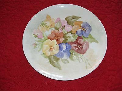 Vingage Hand Painted Floral China Plate Hutschenreuther Gelb Bavaria Germany