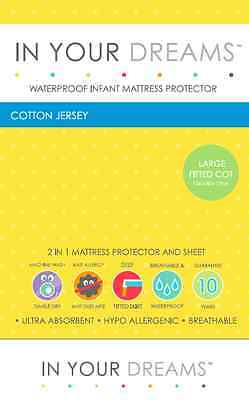 Cotton Jersey Waterproof Infant Large Fitted Cot Mattress Protector Playgro