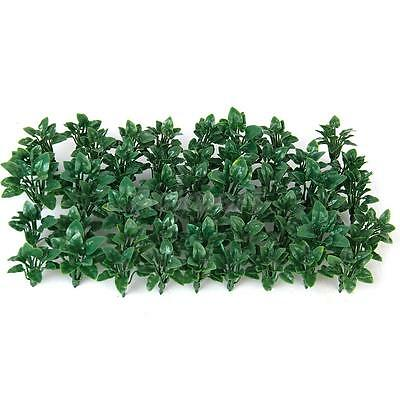 50x Green Heart Leaves Grass Plants Model Wargame Scenery Layout O Scale 5cm