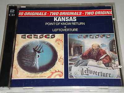 Kansas Leftoverture & Point Of Know Return 2 Cd´s Epic 89 Texte In Booklet  (Yz)