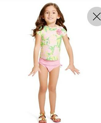 SOLD OUT! Lilly Pulitzer For Target Infant Toddler Girls Rashguard Swimsuit 18 M