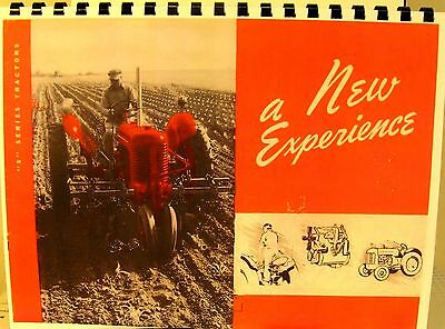 1941 S series J.I. Case Tractor Sales Manual  A New Experience  All; New Feature