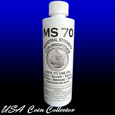 MS-70 Coin Brightener & Cleaner for Gold, Silver, Copper, Nickel, Bronze, etc.
