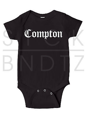 Compton Tupac Nwa Notorious Hip Hop Baby T-Shirt Funny Cute Shower Gift Onesie