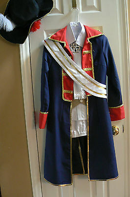 Axis Powers Hetalia APH Prussia COSPLAY Costume Army Uniform