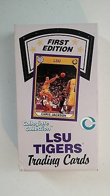 LSU Tigers first edition collegiate collection trading cards box (1990-1991)