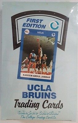UCLA Bruins first edition collegiate collection trading cards box (1990-91)